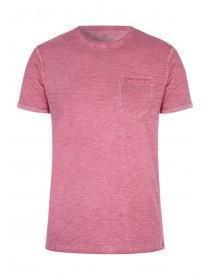 Mens Basic Pink Space Dye T-Shirt
