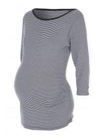 Maternity Black Stripe Top