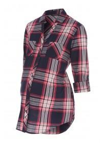 Womens Maternity Check Shirt