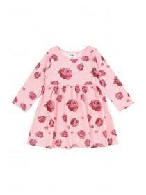 Baby Girls Pink Floral Print Dress