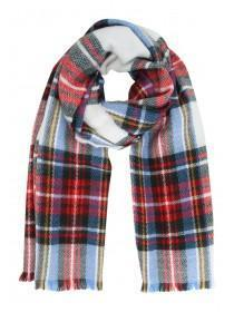 Womens Red Check Scarf