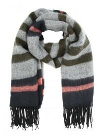 Womens Brushed Stripe Scarf