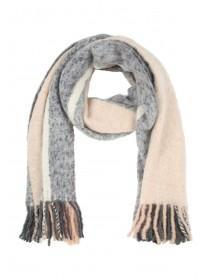 Womens Brushed Striped Scarf