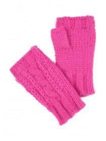 Womens Pink Cut Off Mittens