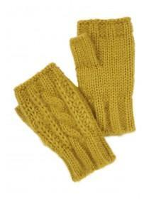 Womens Lime Cut Off Mittens