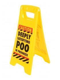 Yellow Poo Desk Sign