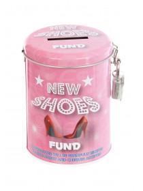 Womens Pink Shoe Fund Tin