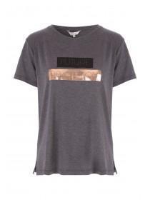 Womens Grey Future Slogan T-Shirt