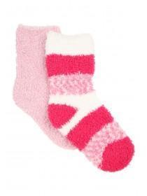Girls 2pk Fluffy Socks