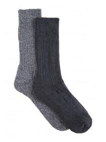 Mens 2pk Grey Thermal Socks