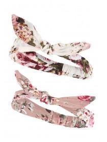 Womens 2PK Pink Headscarf