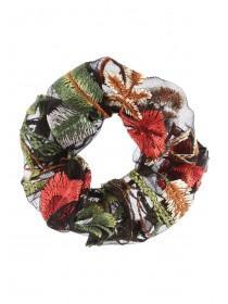 Womens Floral Embroidered Scrunchie