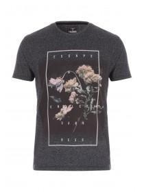 Mens Charcoal Floral T-Shirt