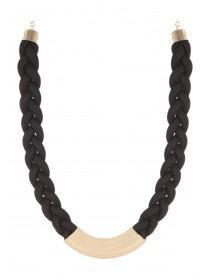 Womens Short Bar Plait Necklace