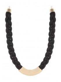 Womens Short Bar Plait Necklace