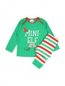 Babys Green Mini Elf Pyjama Set