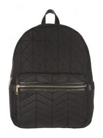 Womens Black Quilted Rucksack