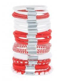 Girls Red 19pk Hair Bobbles