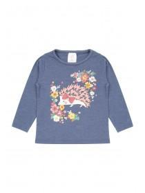 Younger Girls Blue Hedgehog T-Shirt