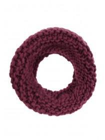 Womens Plum Chunky Knitted Snood