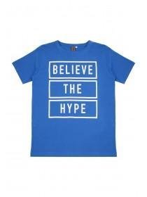Older Boys Blue Slogan T-Shirt