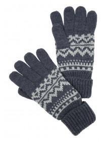 Mens Blue Fair Isle Gloves
