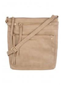 Womens Beige Blondie Cross Body Bag