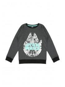 Younger Boys Glow in the Dark Star Wars Sweatshirt