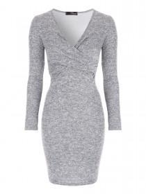 Jane Norman Grey Knot Front Dress