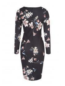 Jane Norman Black Floral Bodycon Dress