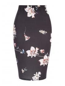 Jane Norman Floral Pencil Skirt