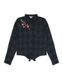 Older Girls Green Check Shirt
