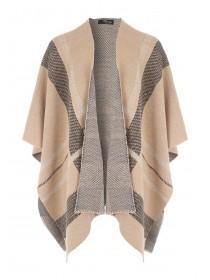 Jane Norman Beige Cape Cardigan