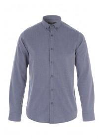 Mens Blue Long Sleeve Shirt