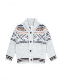 Younger Boys Fairisle Shawl Cardi