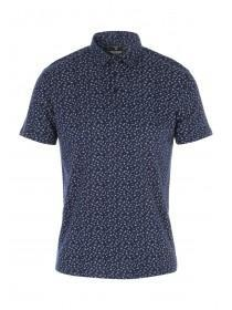Mens Short Sleeve Printed Polo Shirt