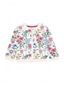 Baby Girls Floral Zip Bomber Jacket