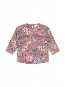 Baby Girls Floral Frill Sweater