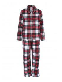 Womens Red Check Pyjama Set