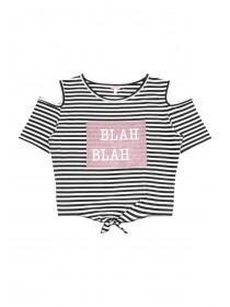 Older Girls Black Blah Blah T-Shirt