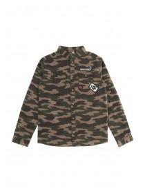 Older Boys Camo Badge Shirt