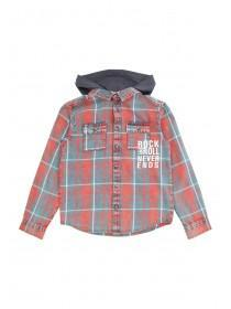 Older Boys Orange Hooded Shirt
