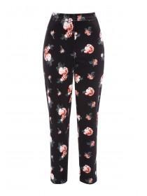 Womens Floral Velvet Trousers