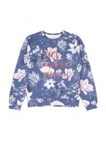 Older Girls Floral Queen Sweater