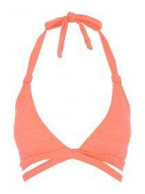 Jane Norman Peach Cross Over Bikini Top
