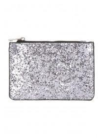 Womens Silver Glitter Coin Purse