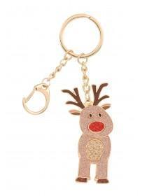 Glittery Reindeer Keyring