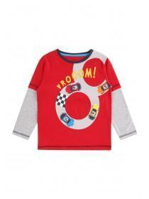 Younger Boys Red Vroom T-Shirt