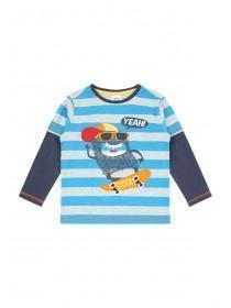 Younger Boys Blue Monster T-Shirt