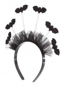 Girls Black Bat Hairband